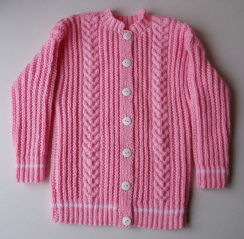 Růžový svetřík