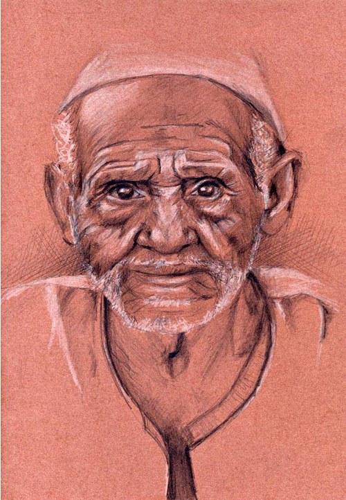 Studie starého muže 2