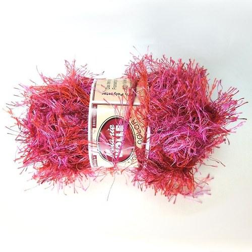 Pletací příze jahodově růžová 100% polyester 50g