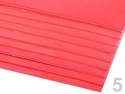 Samolepící pěnová guma Moosgummi 20x30cm - červená