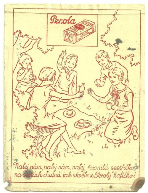 Reklamní savý papír piják Perola káva