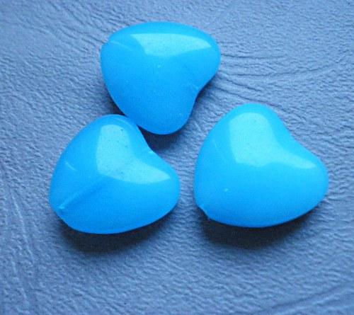 Světle modré srdce - 2ks