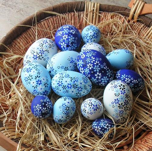 Kachní kraslice modré