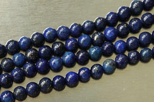 Lapis-lazuli kuličky 4mm - 5ks.