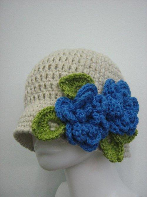 Háčkovaný klobouk - čepice
