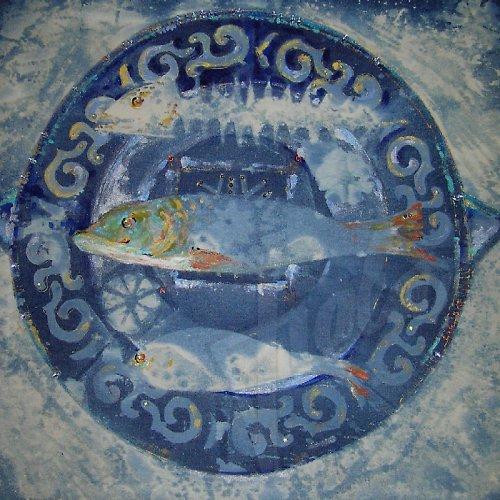 Mandala  -  nedojedené ryby