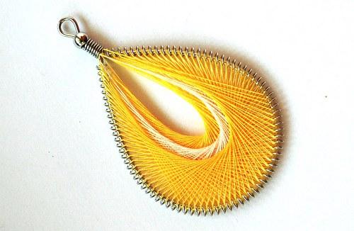 Slza žlutá 45x75mm