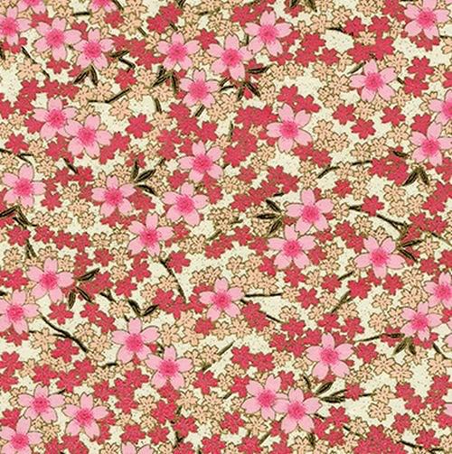 Handmade papír - Třešňové kvítky růžové