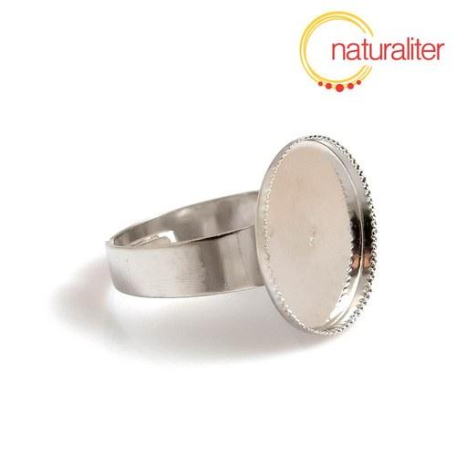 Základ na prsten s lůžkem 14mm platinová barva