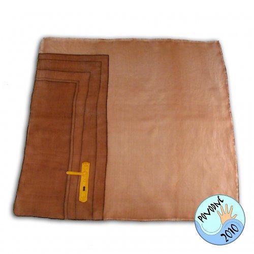 Dveře domů - hedvábný šátek