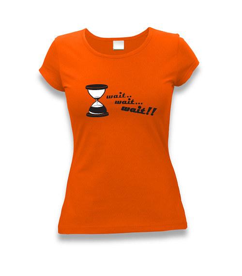 Málo času - dámské tričko s potiskem