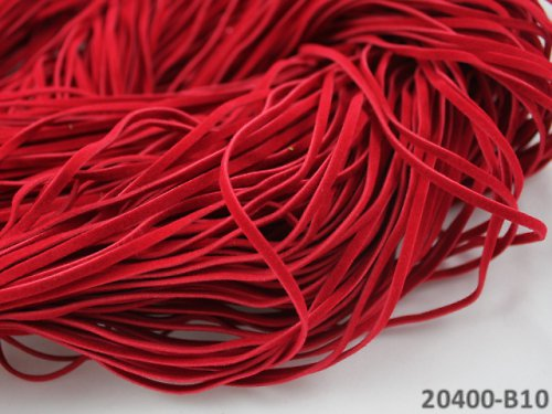 20400-B10 Semišová šňůrka 100cm ČERVENÁ, bal. 3ks