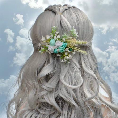 Svatební spona  do vlasů La Menthlet