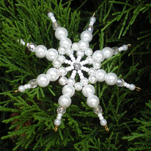 Korálková hvězdička bílá