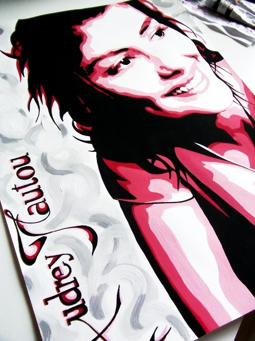 Audrey Tautou / 33x45cm