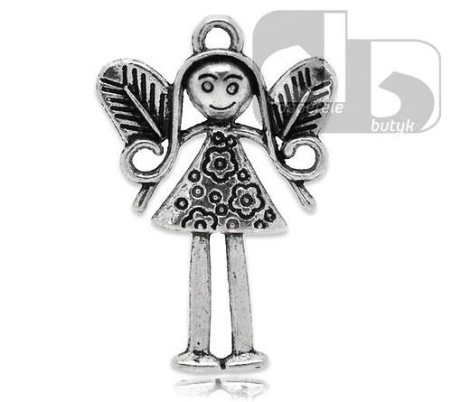 Stříbrný přívěšek - anděl holčička 3,6 cm