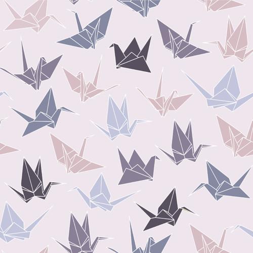Tapeta Origami / růžový podklad
