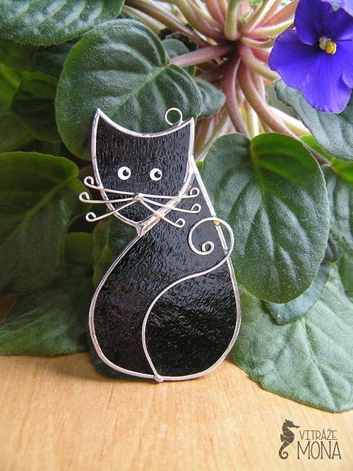 suchá černá kočička
