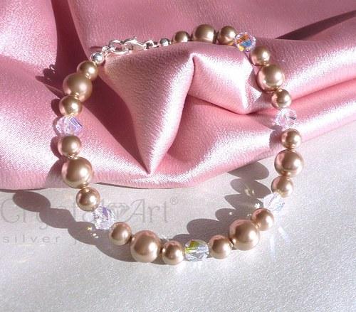 Náramok so Swarovski perlami