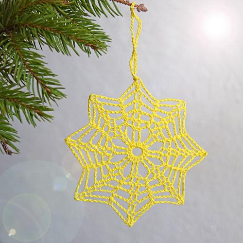 Vánoční hvězda 8 - žlutá