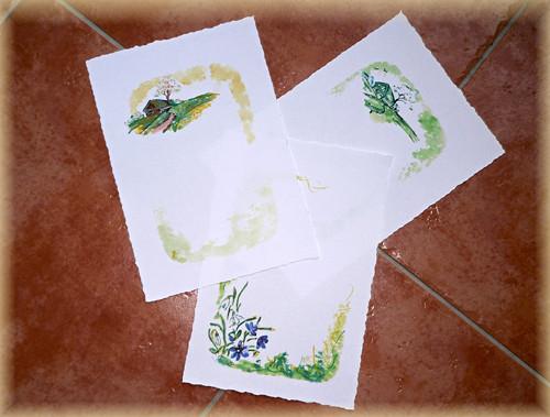 """Dopisní papír \""""jarní\"""" motivy - SADA 3 ks"""
