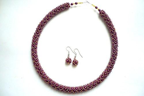 Elegantní náhrdelník + náušnice