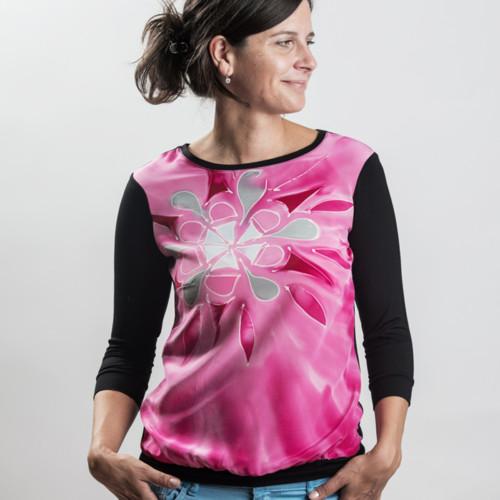 Triko HEDVÁBÍ-BAMBUS růžové