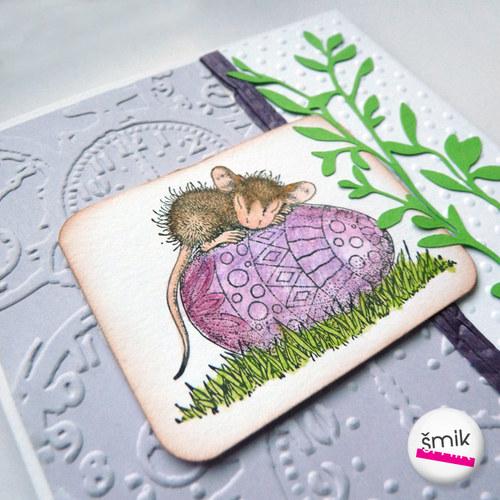 Violet dreams - velikonoční přání s myšičkou