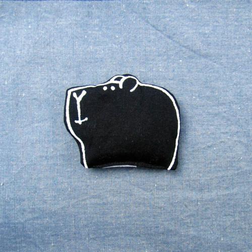 Textilní brož - SAZE