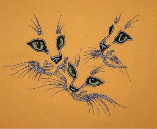Tričko Uni+vyšitá koťátka