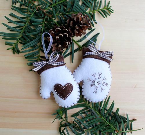 Vánoční ozdaby - rukavičky