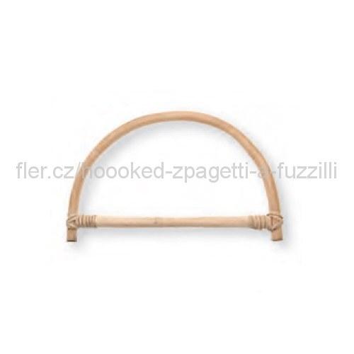Ucho na tašku Hoooked, pár - 25 x 15 cm, bambusové