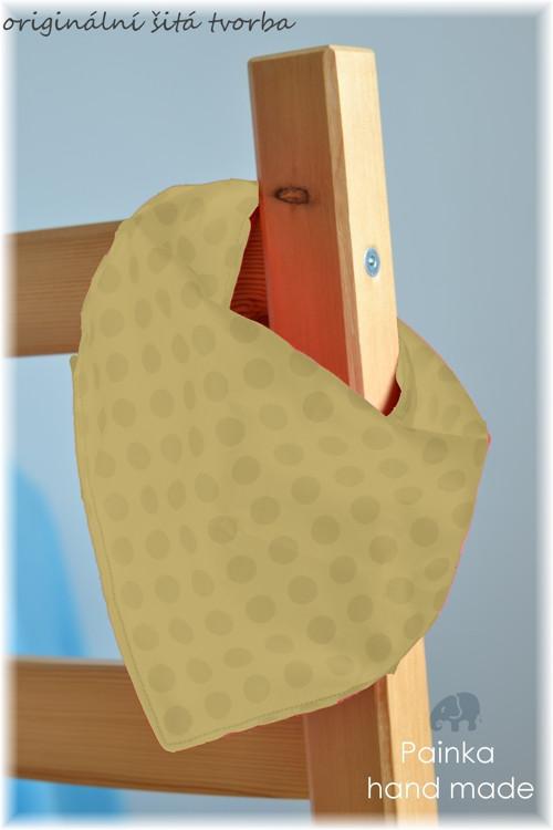 Slintáček - nákrčníček pro nejmenší SVĚTLÉ VARIACE