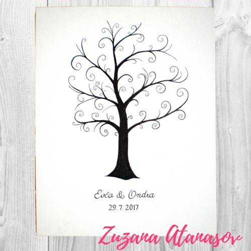 Svatební strom kudrlinky 30 x 40 cm