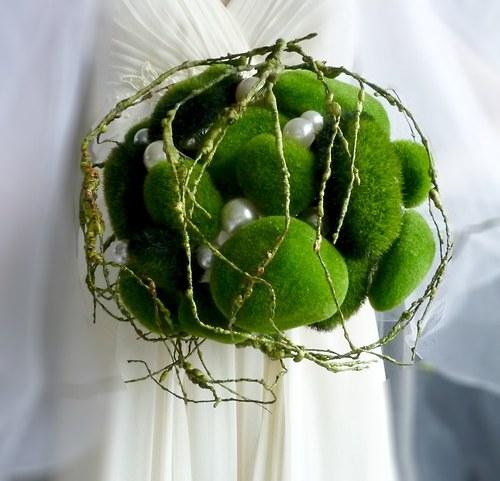 Svatební kytice Earth + korsáž