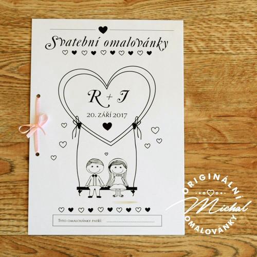 Svatební omalovánky - TYP 64