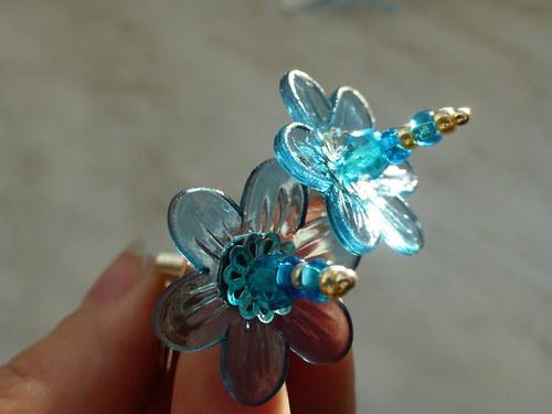 Náušnice - spirálkové modřenky