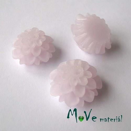 Kabošon květ transparent A5 - resin - 2ks, lila