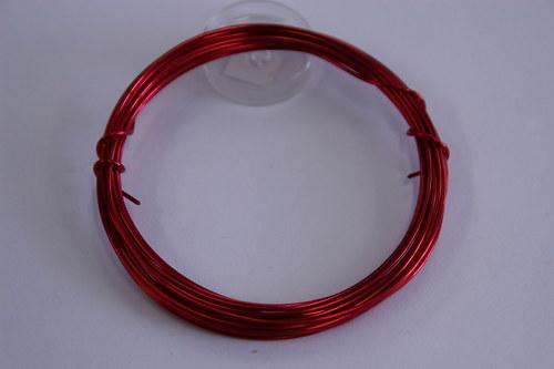 Měděný drátek 1mm - růž.červený, návin 3,8-4m