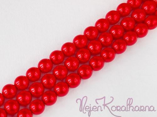 Voskové perle červená 8mm