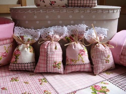 Růžové levandulové pytlíčky