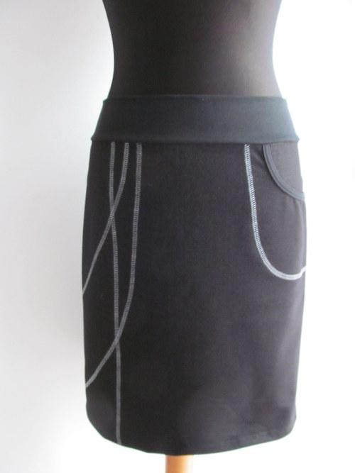 sukně riflovina pružná
