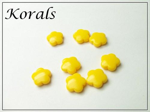 M215 Korálek KVĚTINA plastová ŽLUTÁ 10 ks