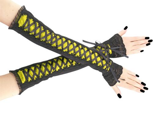 Společenské dámské rukavice žluté gothic 0R9