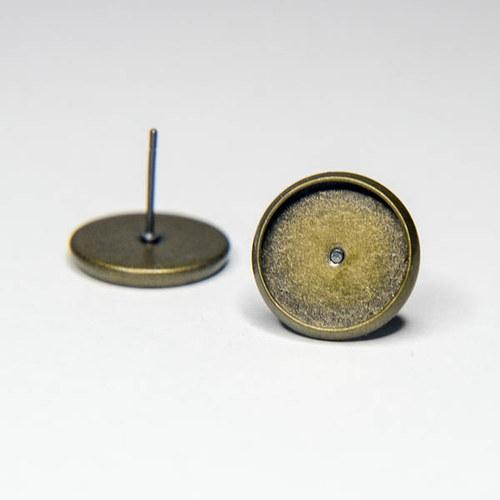 Puzety  12mm - mosazná - 1 pár
