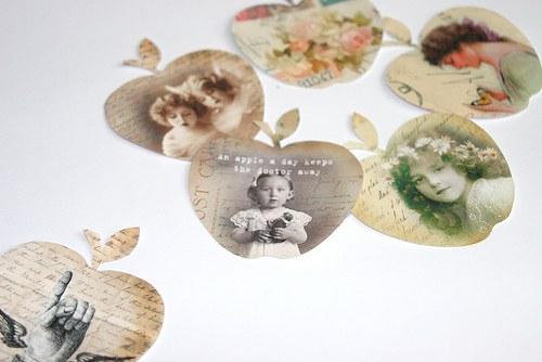 Nažehlovací obrázky- Jablíčka - 6 kusů