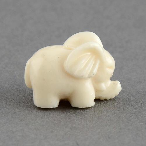 Slon z korálu, slonová kost, 10 ks