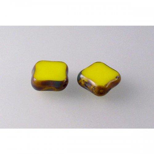 plošk.perla žlutá sytá travertin 12 mm 6ks