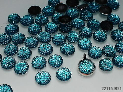 22115-B21  Kabošony třpytivé kamínky TYRKYSOVÉ