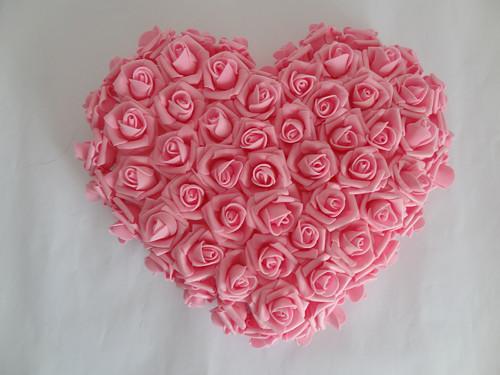 Srdce z pěnových růží